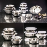 Conjunto de Tigelas + Potes + Escorredor de Arroz Inox 11 peças – La Cuisine