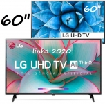 "Smart TV Led 60"" LG 60UN7310 Ultra HD 4K AI Conversor Digital Integrado 3 HDMI 2 USB WiFi"