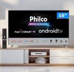 Smart TV LED 58 Philco PTV58G71AGBLS UHD 4K Android TV, Processador Quad Core, Dolby Vision e Áudio, Wi-Fi