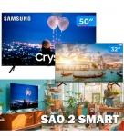 "Combo Smart TV Crystal UHD 4K LED 50"" Samsung – 50TU8000 Wi-Fi + Smart TV HD D-LED 32"" Philco"