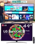 "Smart TV LG 49"" 49NANO81 Ultra HD 4K NanoCell IPS WiFi Bluetooth HDR Inteligencia Artificial ThinQAI Google Assistente Alexa IOT"