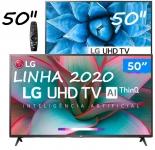 "Smart TV 4K LED 50"" LG 50UN7310PSC Wi-Fi Bluetooth – Inteligência Artificial 3 HDMI 2 USB"