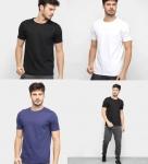 Kit Camiseta Básica c/ 5 Peças Masculina – Básicos