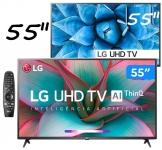 "Smart TV 4K LED IPS 55"" LG 55UN7310PSC Wi-Fi – Bluetooth HDR Inteligência Artificial 3 HDMI 2 USB"