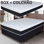 Cama Box Casal Box + Colchão Umaflex – Mola Ensacada 24cm de Altura Zurique 138