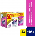 Vanish Tira Manchas Oxi Action Kit com 1 Pink 450 g e 1 Crystal White 450g