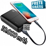 Carregador Portátil (Power Bank) I2GO 10000mAh 2 Saídas USB Preto – I2GO Plus