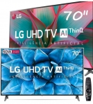 "Smart TV LG 70"" 70UN7310 Ultra HD 4K WiFi Bluetooth HDR Inteligência Artificial ThinQ AI Smart Magic Google Assistente Alexa"
