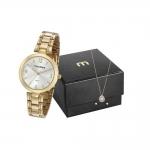 Relógio Feminino Mondaine Analógico – 53609LPMVDE1K1 Dourado com Acessório