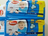 Kit Fraldas Huggies Tripla Proteção Tam. M – 5,5 a 9,5kg 3 Pacotes com 92 Unidades Cada