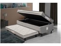 Cama Solteiro Box com Baú e Cama Auxiliar LightSpuma 61cm Lady