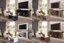 """Rack para TV até 47"""" com Mesa de Centro e Painel – Multimóveis Inovare"""