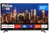 "Smart TV 4K UHD D-LED 55"" Philco PTV55Q20SNBL – Wi-Fi HDR 3 HDMI 2 USB"