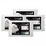 Travesseiros Fibrasca Nasa UP3 Visco 50×70 cm Brancos – 4 Unidades