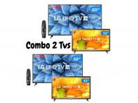 "Combo Smart TV 4K LED 50"" ou 50"" LG 50UN7310PSC ou 60UN7310PSC Wi-Fi – Bluetooth Inteligência Artificial + HD LED 32"""