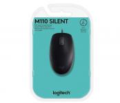 Mouse com fio USB Logitech M110 com Clique Silencioso – Preto