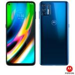 Smartphone Moto G9 Plus Azul Índigo, com Tela de 6,8″, 4G, 128GB e Câmera Quádrupla de 64MP + 8MP + 2MP + 2MP – XT2087-1