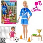 Playset e Boneca Barbie – Barbie Técnica – Loira – Treinadora de Futebol – Mattel