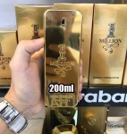 Perfume Masculino One Million Paco Rabanne Eau de Toilette 200ml – Incolor