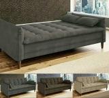 Sofá-cama Suede Reclinável Linoforte – Estela A2