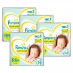 Fralda Pampers Recém-Nascido RN – Kit com 144 unidades