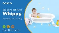 Banheira Infantil Dobrável Cinza Cosco WHIPPY