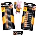 Pilha Alcalina AA ou AAA 16 Unidades – Duracell
