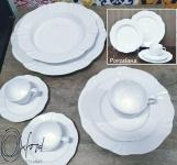 Aparelho de Jantar em Porcelana 20 Peças – Oxford Soleil White